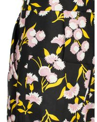 Marni Black Sistowbell Floral Cropped Trouser