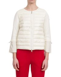 Moncler Red Nylon & Cotton Down Jacket