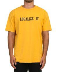 Palm Angels Yellow 'legalize It' T-shirt for men