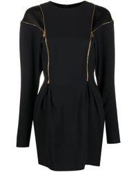 Versace Black Envers Satin Dress