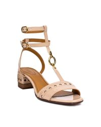 Chloé - Multicolor Perry T-bar Sandals - Lyst
