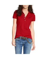 Polo Ralph Lauren Red Skinny-fit Stretch Polo Shirt