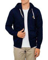 Polo Ralph Lauren | Blue Full Zip Hooded Fleece for Men | Lyst