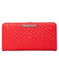 Rebecca Minkoff | Red Sophie Quilted Snap Wallet | Lyst