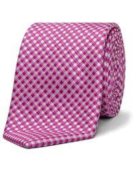 David Jones - Pink Gingham Check Tie for Men - Lyst