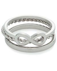 David Jones   Metallic Infinity Ring   Lyst