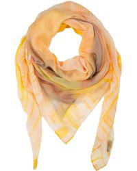 Basler - Bright Yellow Floral Print Scarve - Lyst