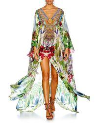 Camilla Green Exotic Hypnotic Split Front & Sleeve Kaftan