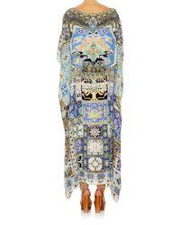 Camilla Multicolor Weave Humanity Round Neck Kaftan