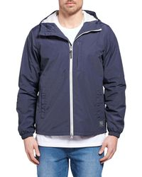 The Academy Brand Blue Coach Jacket for men