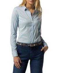 Tommy Hilfiger | Blue Amy Str Shirt Ls W1 | Lyst