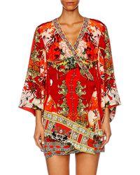 Camilla Red Hangzhou Hollywood Kimono Cross Over Dress