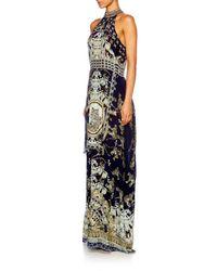 Camilla Black A Little Past Twilight High Neck Layered Dress