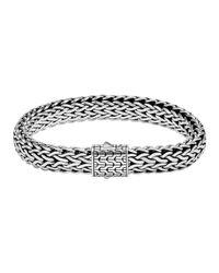 John Hardy | Metallic Classic Chain Silver Large Flat Chain Bracelet | Lyst