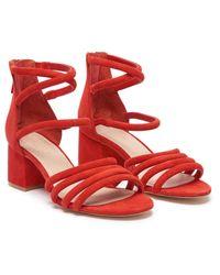 Sandro Red Tessa Sandals