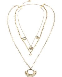 Camilla - Metallic Layered Chain Necklace - Lyst