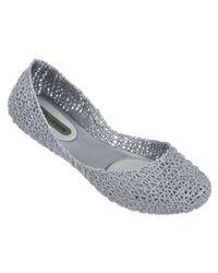 Melissa - Metallic X Campana 'Papel' Glitter Flats - Lyst