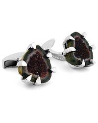 Tateossian Multicolor Geodes Cufflinks for men
