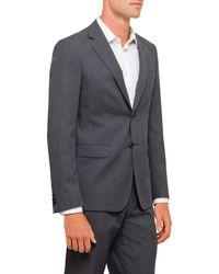 Geoffrey Beene - Gray Textured Plain Travel Jacket for Men - Lyst