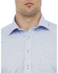 Geoffrey Beene - Blue Coe Dot Print Shirt for Men - Lyst