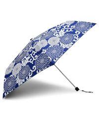 David Jones Blue Super Slim Floral Umbrella
