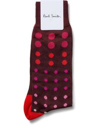 Paul Smith - Red Gradient Spot Sock for Men - Lyst