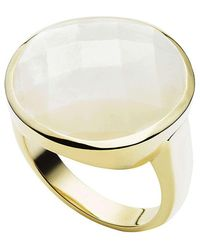 Jan Logan | Metallic 9ct Mother Of Pearl Moonstruck Ring | Lyst