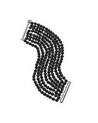 Jan Logan | Black 8 Row Faceted Mae Bracelet | Lyst