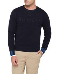 Tommy Hilfiger   Blue Falko Crew Neck Knitwear for Men   Lyst