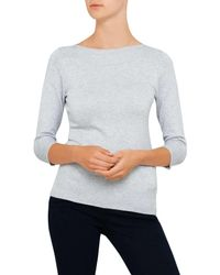 David Jones - Gray Slash Neck Jumper - Lyst