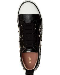 RED Valentino Black Star Studded Sneakers