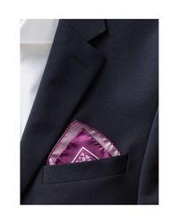 BOSS Multicolor Small Paisley Silk Pocket Square for men