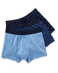 David Jones | Blue 3pk Organic Cotton Fashion Trunks for Men | Lyst