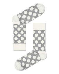 Happy Socks - Gray Big Dot Grey - Lyst