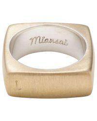 Miansai | Metallic Square Brass Ring | Lyst