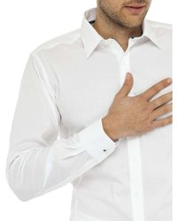 Geoffrey Beene - White Speckle Stretch Dot Body Fit Shirt for Men - Lyst