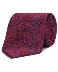 Van Heusen - Red Paisley Tie for Men - Lyst