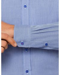 Ben Sherman - Blue Micro Check Kings Formal Shirt for Men - Lyst