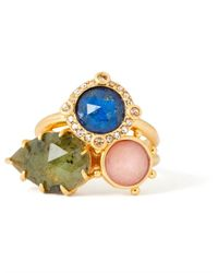 Kate Spade Multicolor Perfectly Imperfect Stone Ring Set