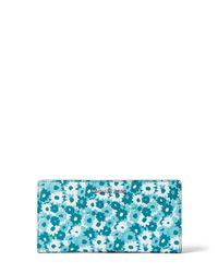 Michael Kors - Blue Jet Set Carnation Slim Wallet - Lyst