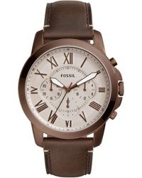 Fossil - Grant Brown Watch for Men - Lyst