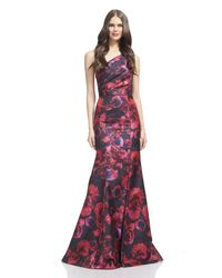 David Meister | Red Jacquard Gown | Lyst