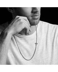 David Yurman - Pavé Cross Necklace With Black Diamonds for Men - Lyst