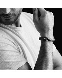 David Yurman - Meteorite Leather Id Bracelet In Black for Men - Lyst