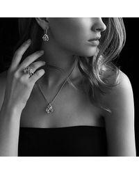 David Yurman - Metallic Cable Wrap Ring With Prasiolite And Diamonds - Lyst