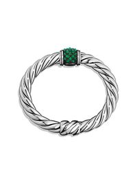 David Yurman - Green Cable Berries Faceted Gemstone & Sterling Silver Bracelet - Lyst