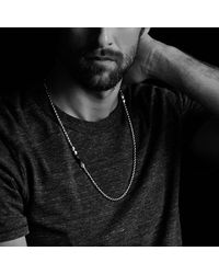 David Yurman - Metallic Faceted Metal Necklace With Black Onyx for Men - Lyst