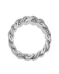 David Yurman - Metallic Belmont Curb Link Bracelet With Diamonds, 18mm - Lyst