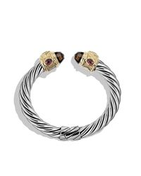 David Yurman - Metallic Renaissance Bracelet With Smoky Quartz, Peridot, And 14k Gold, 10mm - Lyst