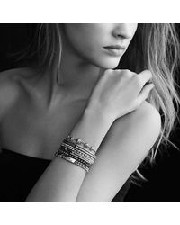 David Yurman - Petite Pavé Labyrinth Single-loop Bracelet With Pink Sapphires - Lyst